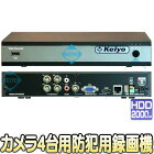 KMR-2004PXS【カメラ4台用マルチフォーマット対応2TB搭載防犯用レコーダー】