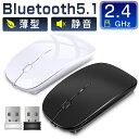 【10/26までポイント5倍】 ワイヤレスマウス Bluetooth マウス Bluetooth5.1 無線マウス USB充電式 小型 静音 省エネルギー 2.4GHz 3DPIモード 光学式 高感度 Mac/Windows/surface/Microsoft Proに対応