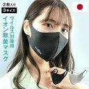 日本製 抗ウイルス イオン除菌 マスク 2枚入 洗える 抗菌