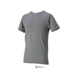 【1点までメール便可】[Phiten]ファイテンRAKUシャツメンズインナーV首半袖杢グレー サイズ:LL