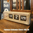 """時計 【送料無料】Twemco Calendar Clock #BQ-38 """"Gray""""トゥエンコカレンダークロック デザイン 掛け時計 掛時計 置き時計 クロック アメリカ フリップ パタパタ 壁掛け グレー おしゃれ アンティーク ギフト プレゼント"""