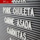 Letters Mサイズ レターズ 文字 アルファベット パーツ 英語 数字 記号 フォント ホワイト レターボード メニューボード シンプル 店舗什器 ポップ サインプレート ホテル トイレ