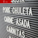 Letters Sサイズ 文字 アルファベット パーツ レターズ 英語 数字 記号 フォント ホワイト レターボード メニューボード シンプル 店舗什器 ポップ サインプレート ホテル トイレ