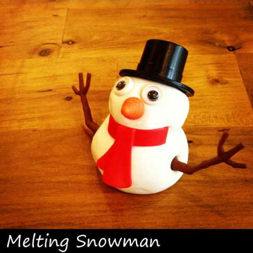 Melting Snowman メルティングスノーマン 雪だるま 溶ける 面白い 粘土 おもちゃ 子供 プレゼント ギフト クリスマス プレゼント かわいい 冬 雪 スノー 白い ウケ ユニーク ユーモア 作る 工作【楽ギフ_包装】