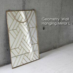 Geometry Wall Hanging Mirror Lサイズ ディスプレイ おしゃれ アンティーク インテリア フレーム ブラス 真鍮 ゴールド 金 結婚祝い ギフト プレゼント 贈り物 幾何学 壁掛け ウォールハンギングミラー 鏡