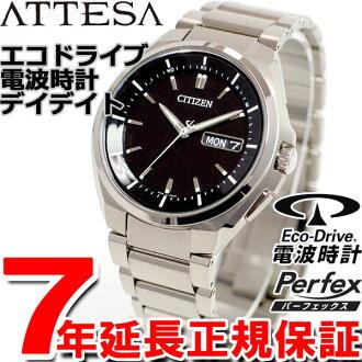 Citizen atessa CITIZEN ATTESA eco-drive solar radio watch mens watch day & date AT6010-59E