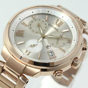 シチズンクロスシーCITIZENXCエコドライブソーラー腕時計レディースTITANIAラインクロノグラフFB1332-50A