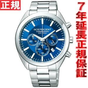 インディペンデントINDEPENDENT腕時計メンズ時計クロノグラフシチズンCITIZENBR1-412-71