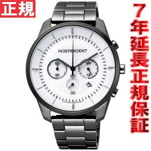 インディペンデントINDEPENDENTソーラー腕時計メンズタイムレスラインクロノグラフKF5-144-11