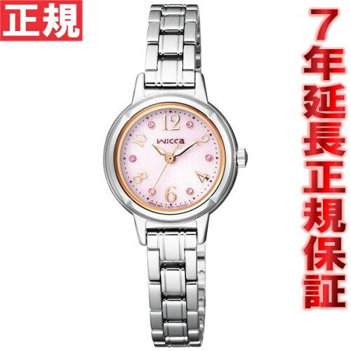 シチズン ウィッカ CITIZEN wicca ソーラー エコドライブ 腕時計 レディース スワロフスキーモデル...