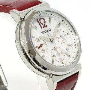 セイコールキアSEIKOLUKIAソーラー腕時計レディースクロノグラフ綾瀬はるかイメージキャラクターSSVS017