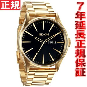 ニクソンNIXONセントリーSSSENTRYSS腕時計メンズオールゴールド/ブラックNA356510-00