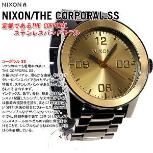 ニクソンNIXONコーポラルSSCORPORALSS腕時計メンズブラック/ゴールドNA346010-00