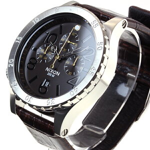 ニクソンNIXON48-20クロノレザー48-20CHRONOLEATHER腕時計メンズクロノグラフブラウンゲーターNA3631887-00
