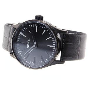 ニクソンNIXONセントリー38レザーSENTRY38LEATHER腕時計メンズ/レディースブラックゲーターNA3771886-00