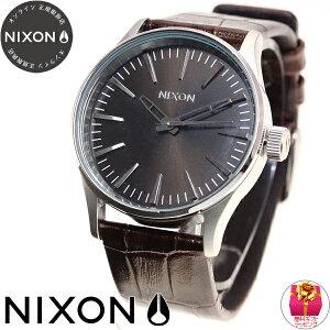 ニクソンNIXONセントリー38レザーSENTRY38LEATHER腕時計メンズ/レディースブラウンゲーターNA3771887-00