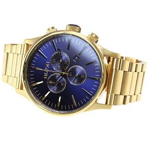 ニクソンNIXONセントリークロノSENTRYCHRONO腕時計メンズクロノグラフゴールド/ブルーサンレイNA3861922-00