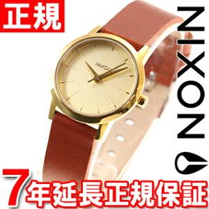 ニクソンNIXONケンジレザーKENZILEATHER腕時計レディースゴールド/サドルNA3981425-00