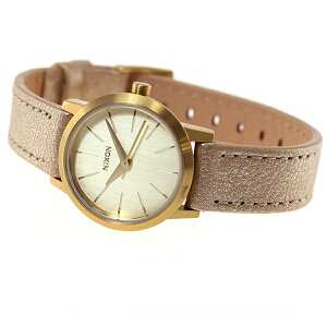 ニクソンNIXONケンジレザーKENZILEATHER腕時計レディースゴールドシマーNA3981877-00