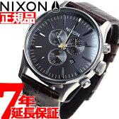 ニクソン NIXON セントリークロノレザー SENTRY CHRONO LEATHER 腕時計 メンズ クロノグラフ ブラウンゲーター NA4051887-00【あす楽対応】【即納可】