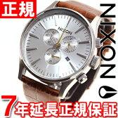 ニクソン NIXON セントリークロノレザー SENTRY CHRONO LEATHER 腕時計 メンズ クロノグラフ サドルゲーター NA4051888-00