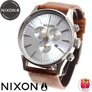 ニクソンNIXONセントリークロノレザーSENTRYCHRONOLEATHER腕時計メンズクロノグラフサドルゲーターNA4051888-00