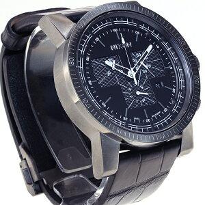 ニクソンNIXONマグナコンレザー2MAGNACONLEATHERII腕時計メンズクロノグラフブラックゲーターNA4581886-00