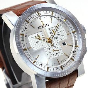 ニクソンNIXONマグナコンレザー2MAGNACONLEATHERII腕時計メンズクロノグラフブラウンゲーターNA4581887-00