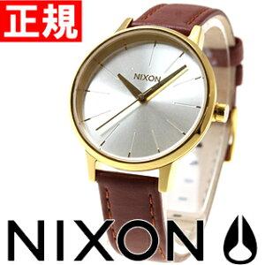 ニクソンNIXONケンジントンレザーKENSINGTONLEATHER腕時計レディースゴールド/サドルNA1081425-00