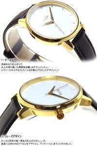 ニクソンNIXONケンジントンレザーKENSINGTONLEATHER腕時計レディースゴールド/ホワイト/ブラックNA1081964-00