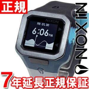 ニクソンNIXONスーパータイドSUPERTIDE腕時計メンズブラック/シーフォーム/グレイデジタルNA3161942-00