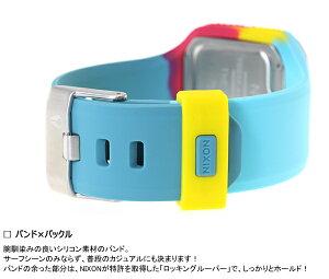 ニクソンNIXONスーパータイドSUPERTIDE腕時計メンズシーフォーム/マゼンタ/イエローデジタルNA3162005-00