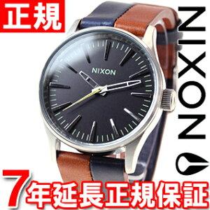 ニクソンNIXONセントリー38レザーSENTRY38LEATHER腕時計メンズ/レディースダークカッパー/ネイビー/サドルNA3771957-00