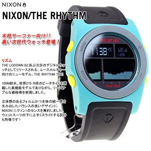 ニクソンNIXONリズムRHYTHM腕時計メンズシーフォーム/ブラック/イエローデジタルNA3852004-00