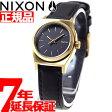 ニクソン NIXON スモールタイムテラーレザー SMALL TIME TELLER LEATHER 腕時計 レディース ブラック/ゴールド NA509010-00【あす楽対応】【即納可】