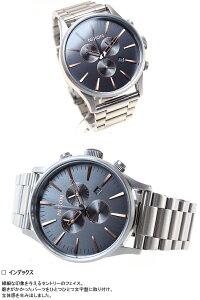 ニクソンNIXONセントリークロノSENTRYCHRONO腕時計メンズクロノグラフグレイ/ローズゴールドNA3862064-00