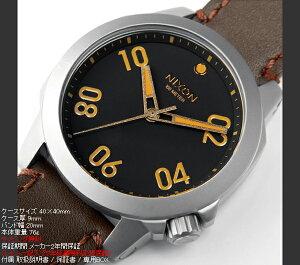 ニクソンNIXONレンジャー40レザーRANGER40LEATHER腕時計メンズ/レディースブラック/ブラウンNA471019-00