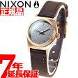 ニクソン NIXON スモールタイムテラーレザー SMALL TIME TELLER LEATHER 腕時計 レディース ローズゴールド/ガンメタル/ブラウン NA5092001-00