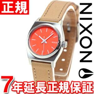 ニクソンNIXONスモールタイムテラーレザーSMALLTIMETELLERLEATHER腕時計レディースブライトコーラル/ナチュラルNA5092055-00