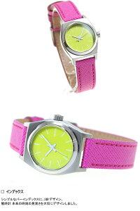 ニクソンNIXONスモールタイムテラーレザーSMALLTIMETELLERLEATHER腕時計レディースネオンイエロー/ホットピンクNA5092081-00