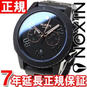 ニクソンNIXONレンジャークロノRANGERCHRONO腕時計メンズクロノグラフオールブラック/ローズゴールドNA549957-00