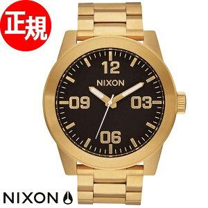 ニクソンNIXONコーポラルSSCORPORALSS腕時計メンズオールゴールド/ブラックNA346510-00