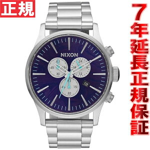 ニクソンNIXONセントリークロノSENTRYCHRONO腕時計メンズクロノグラフパープルNA386230-00