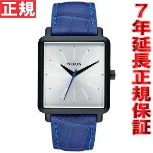 ニクソンNIXONKスクエアードKSQUARED腕時計レディースブラック/ブルーゲーターNA4722131-00