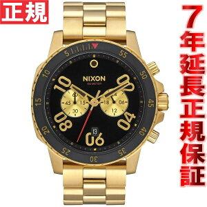 ニクソンNIXONレンジャークロノRANGERCHRONO腕時計メンズクロノグラフゴールド/ブラックNA549513-00