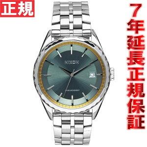 ニクソンNIXONミンクスMINX腕時計レディースクロノグラフシルバー/セージ/ゴールドNA9342162-00