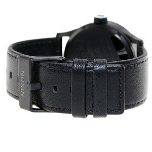 ニクソンNIXONセントリーレザーSENTRYLEATHER腕時計メンズブラック/ホワイトNA105005-00