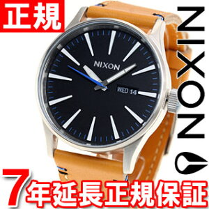 ニクソンNIXONセントリーレザーSENTRYLEATHER腕時計メンズナチュラル/ブラックNA1051602-00