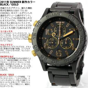ニクソンNIXON42-20CHRONOクロノ腕時計メンズマットブラック/ゴールドクロノグラフNA0371041-00
