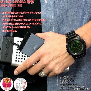 ニクソンNIXONユニットSSUNITSS腕時計メンズオールブラック/グリーンデジタルNA360032-00